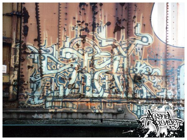 Graffiti tipográfico de Aerosol Fiends