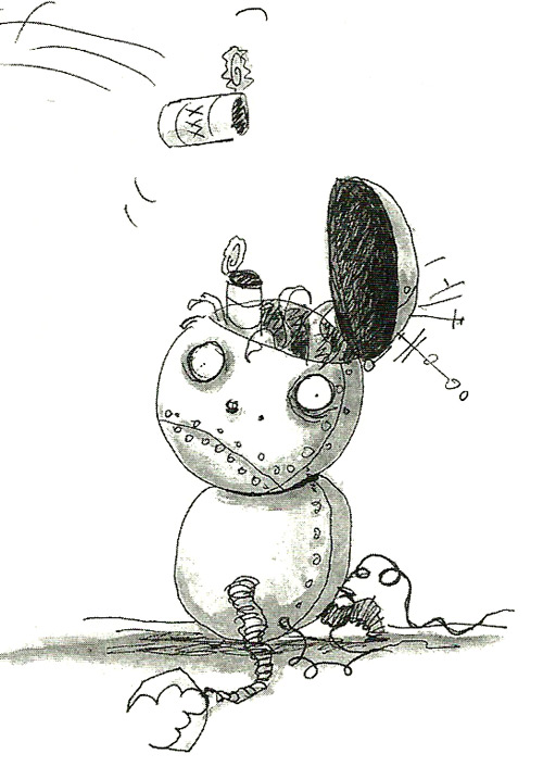 Ilustración de Tim Burton - Chico Robot