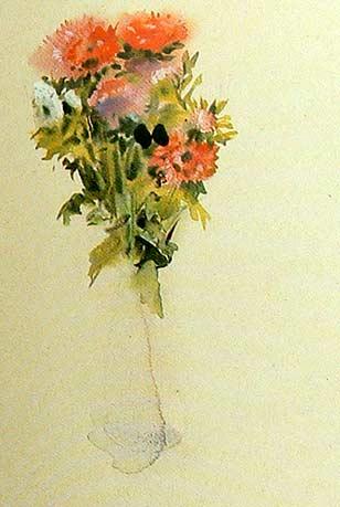 Acuarela mojado sobre mojado pintura y artistas - Fotos jarrones con flores ...