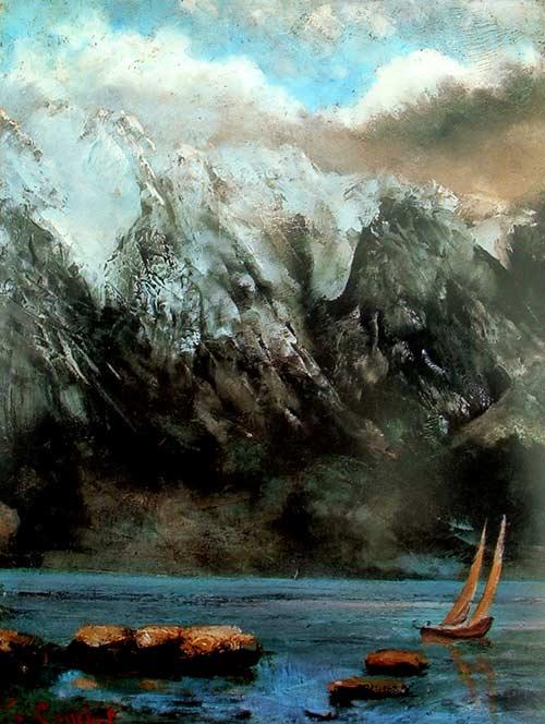 El lago Leman de Gustave Courbet