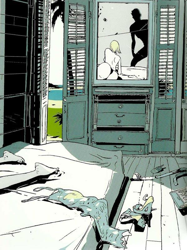 Habitación, ilustración de Istvan Banyai