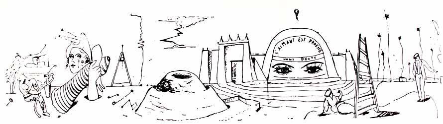 Lección de escritura automática de Max Ernst
