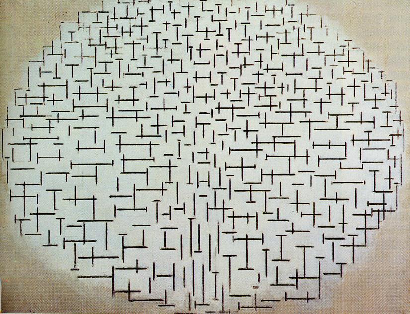 Pintura de Mondrian