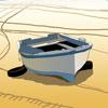 Dibujo de una Barca en la playa