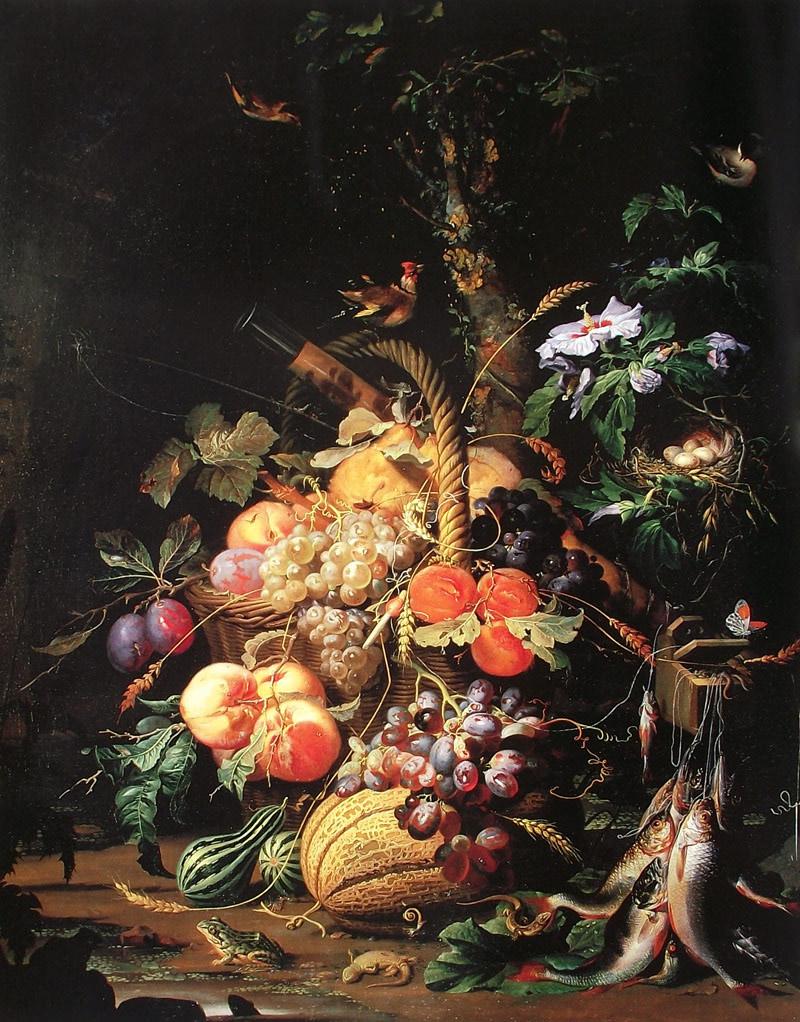 Flores al óleo estilo barroco