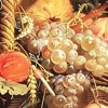 Flores y frutas al óleo con estilo barroco