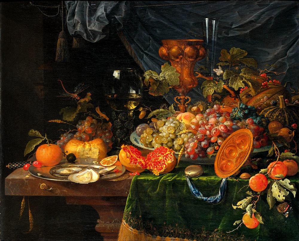 Frutas al óleo Abraham Mignon