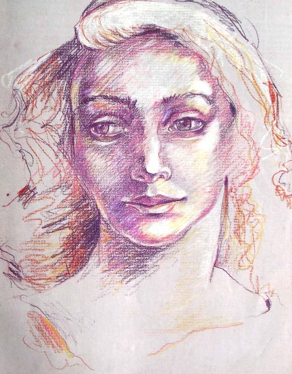 Dibujar un rostro con lpices de colores Paso a paso  Pintura y