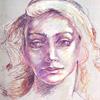 Dibujar un rostro con lápices de colores. Paso a paso