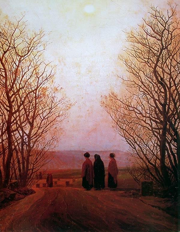 Amanecer de Caspar David Friedrich