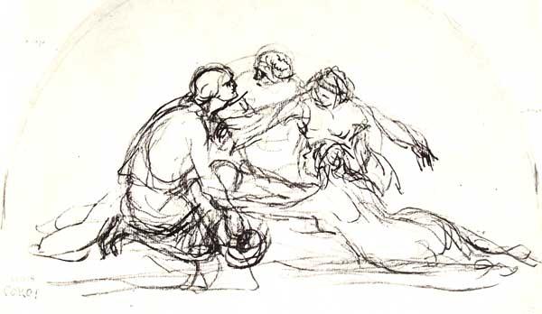 Dibujo gestual de Corot