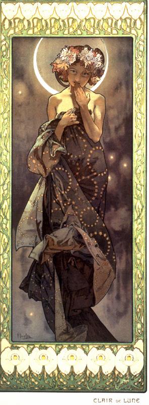 Luna de Alphonse Mucha