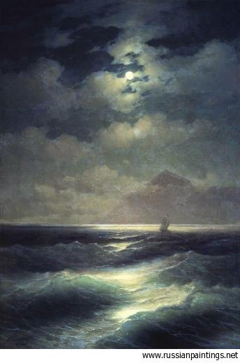 Paisaje - Marina con luna