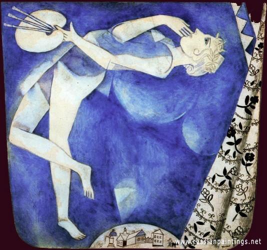 Pintor a la luna de Marc Chagall