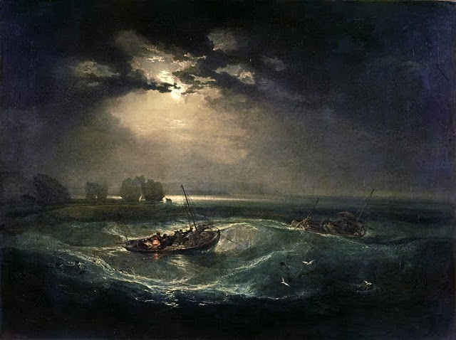 Paisaje con luna de William Turner