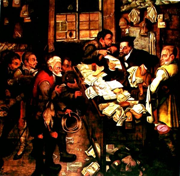 Pintura Brueguel, Banquero de ciudad