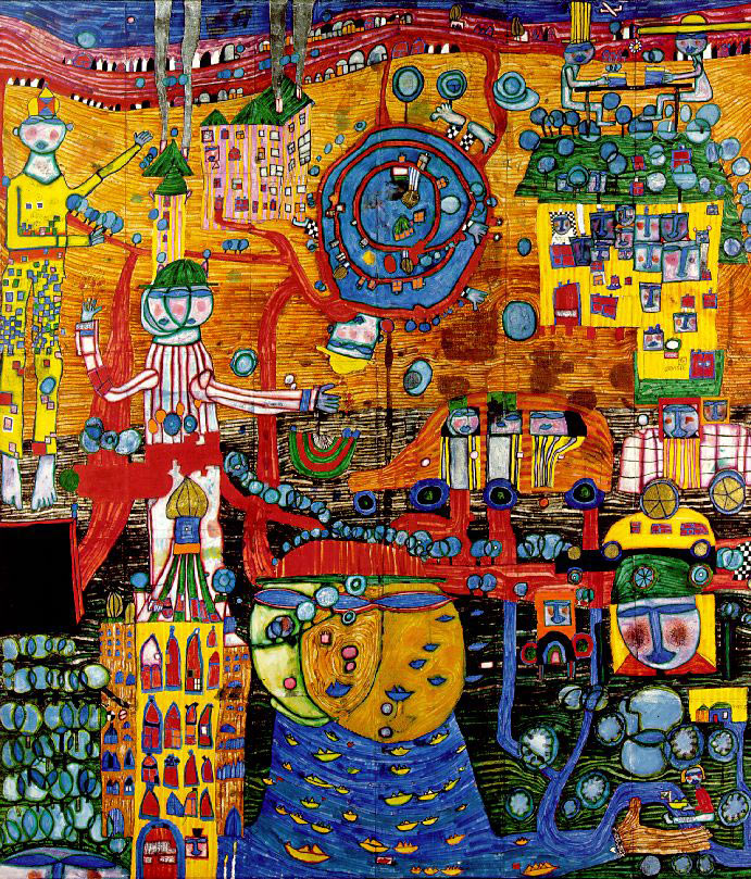 Pintura de Hundertwasser