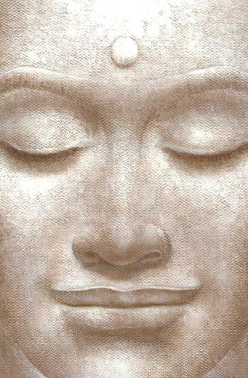 Rostro de Buda sereno