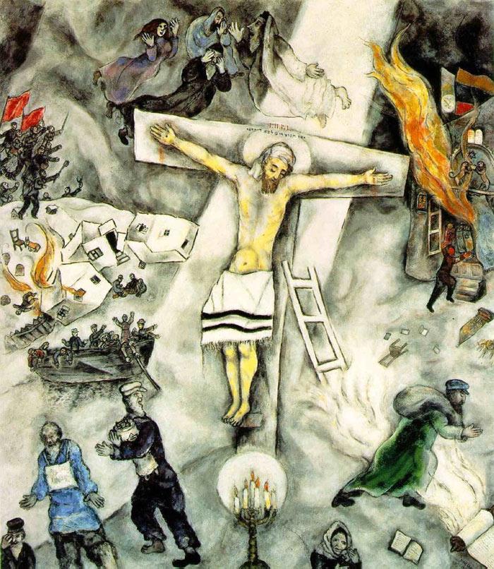 Pintura de Chagall, Christo crucificado