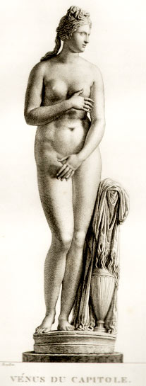 Venus de Capilote, pencil drawing by Pierre Bouillon