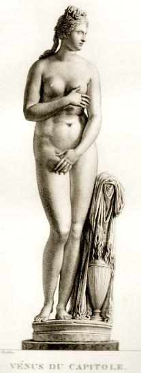 Venus de Capilote, dibujo a lápiz de Pierre Bouillon