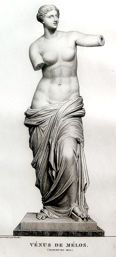 Venus de Milo,  pencil drawing by Pierre Bouillon