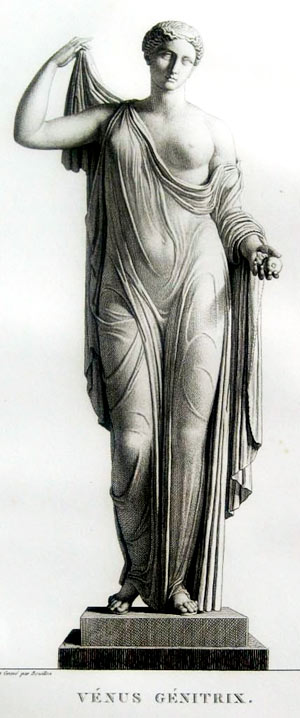 Venus de Milo, dibujo a lápiz de Pierre Bouillon