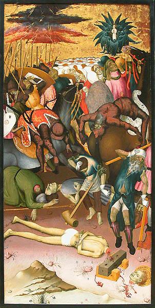 Obra de Bernat Martorell con láminas de oro