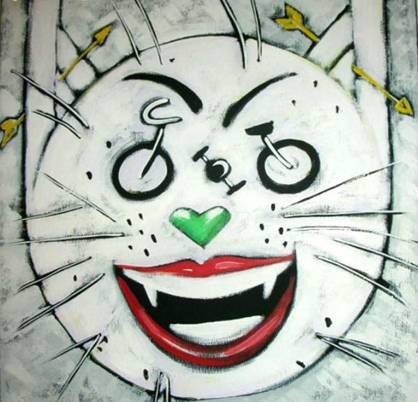 Pintura Cara de gato de Leo Limón