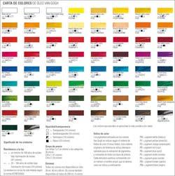 Colores y pigmentos profesionales pintura y artistas - Nombres de colores de pinturas ...