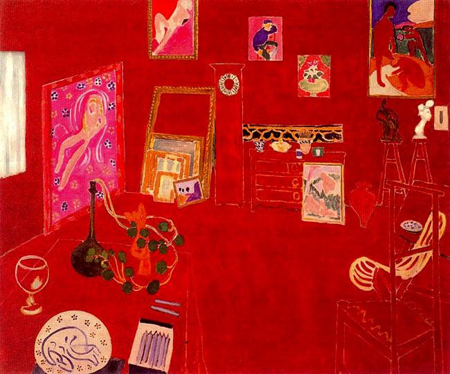 El estudio rojo, de Matisse.