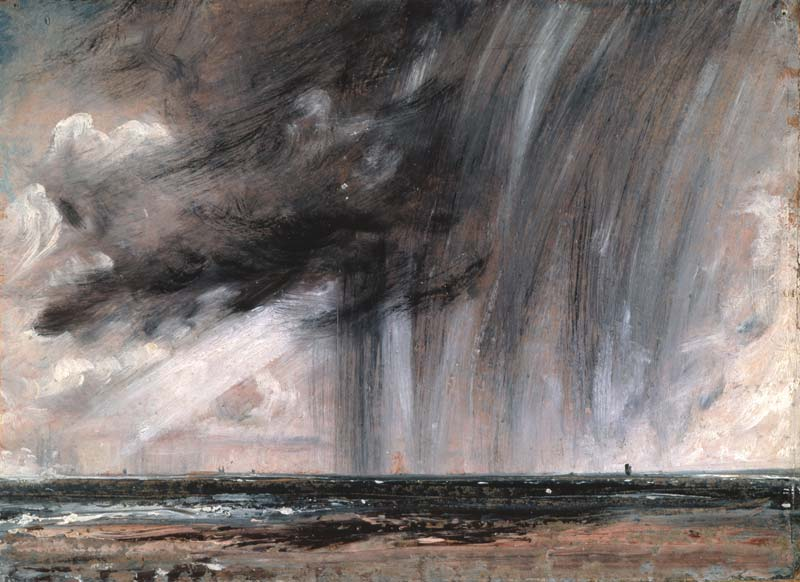 Lluvia sobre el mar, de John Constable