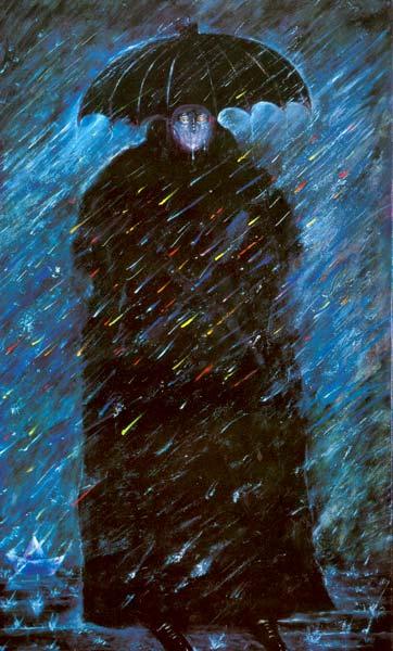 El mago bajo la lluvia, de Colunga