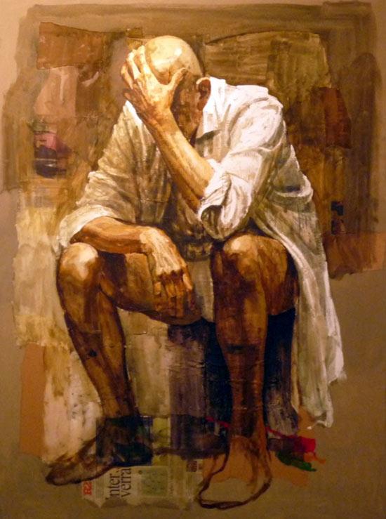 Hombre llorando Safet Zec