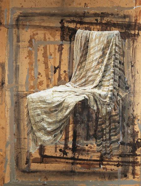 Pintura de una Silla con telas de Safet Zec