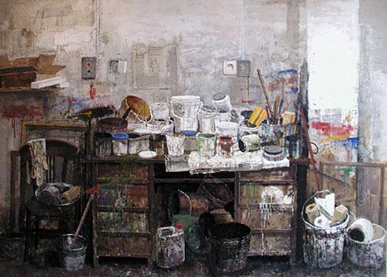 Safet Zec, taller pintado