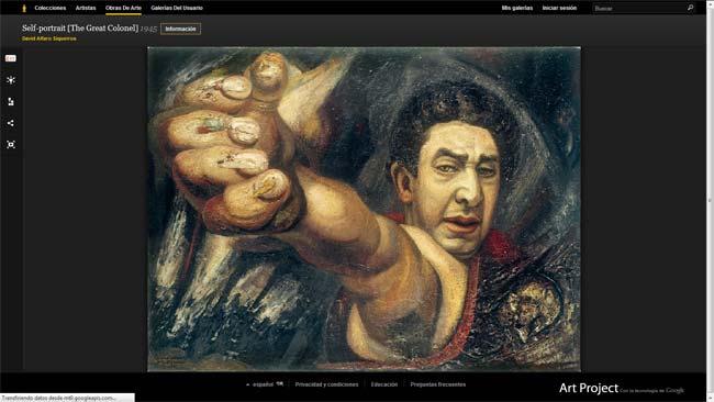 Pintura de Siqueiros en Google Art Project