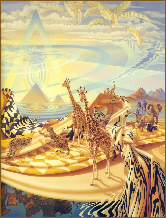 Pintura Girafas de Ilene Meyer
