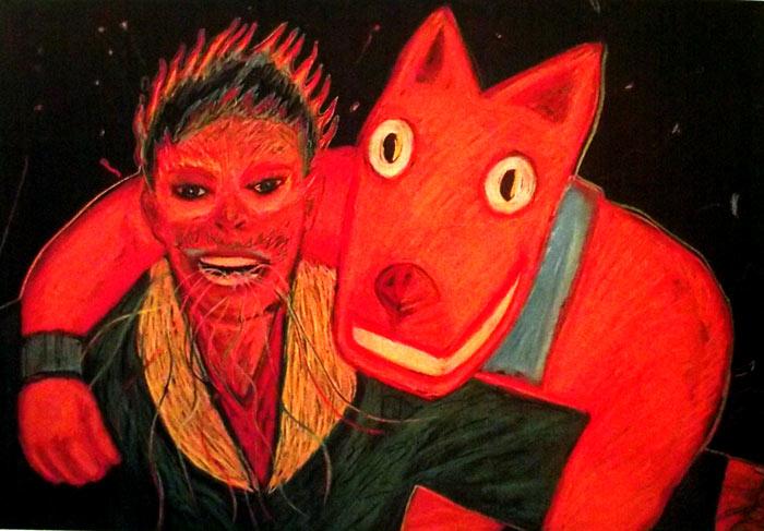 Pintura Camaradas, de Magu