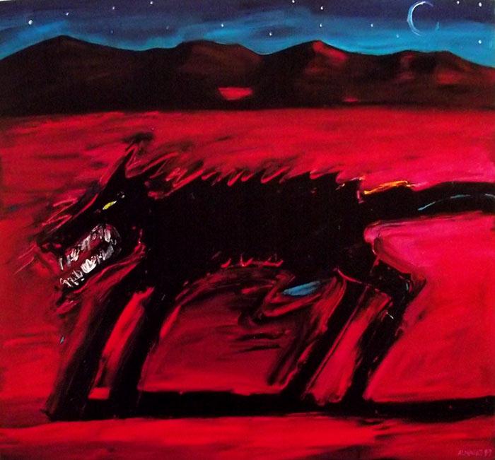 Pintura El lobo, Carlos Almaraz