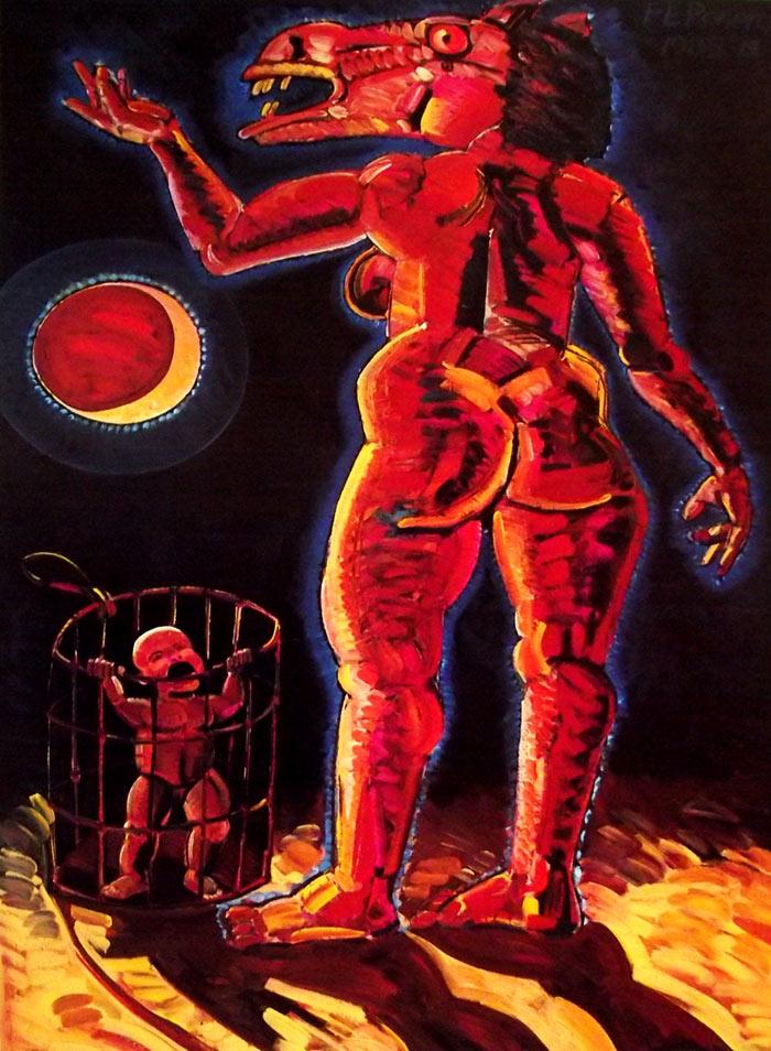 Pintura La llorona, Frank Romero