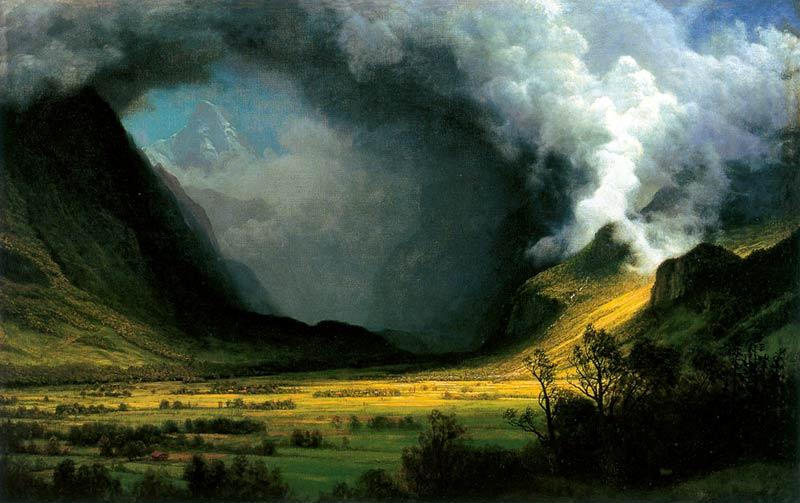 Albert Bierstadt - Tormenta