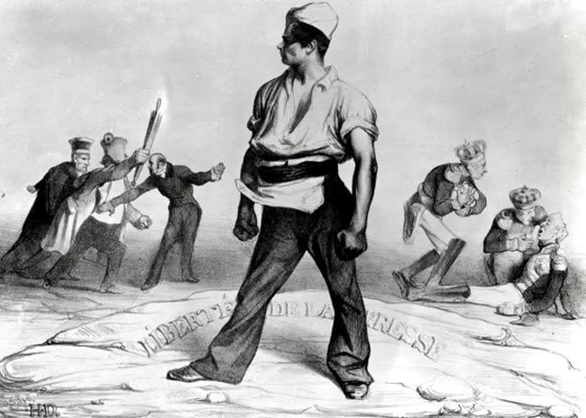 Libertad de Prensa, dibujo de Daumier