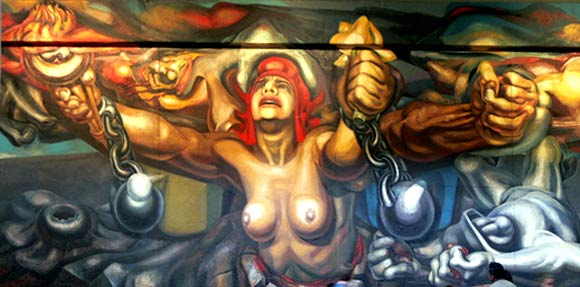 Libertad, mural de Orozco