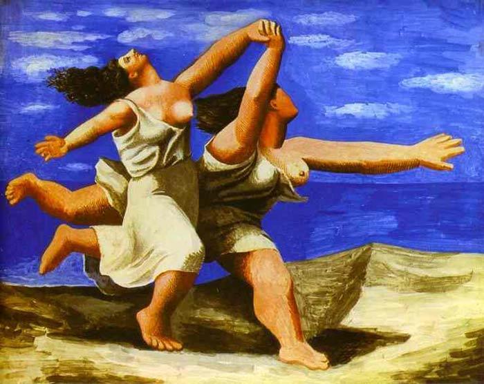 Dos mujeres corriendo en la playa, de Picasso