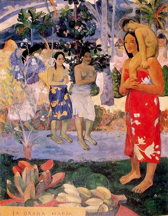 Escena con luz difusa de Gauguin