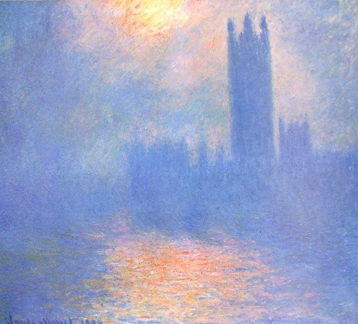 Monet, sol entre la niebla