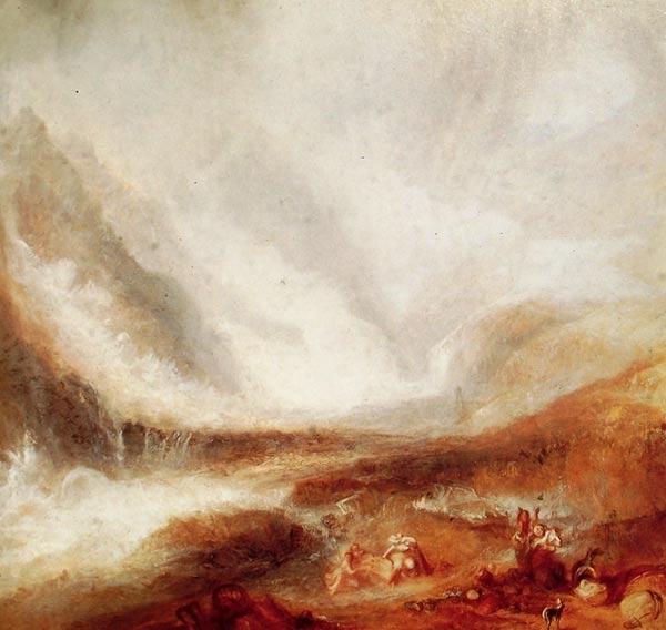Luz difusa en una pintura de Turner