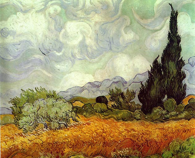 Landscape with diffuse light by Van Gogh