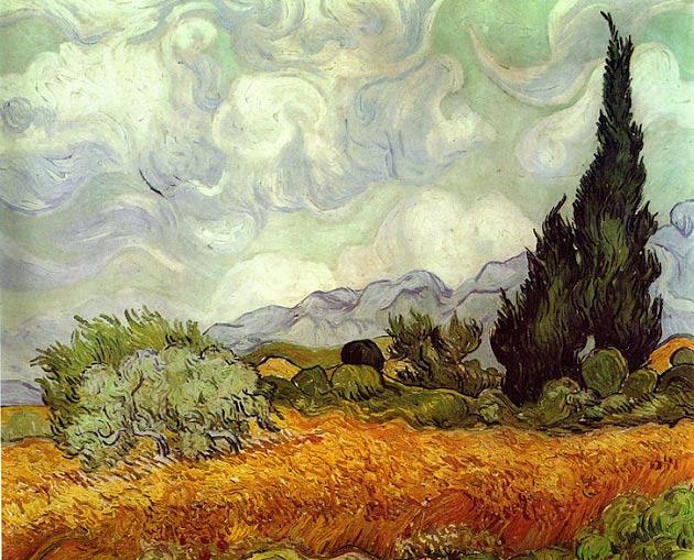 Paisaje de Van Gogh con luz difusa